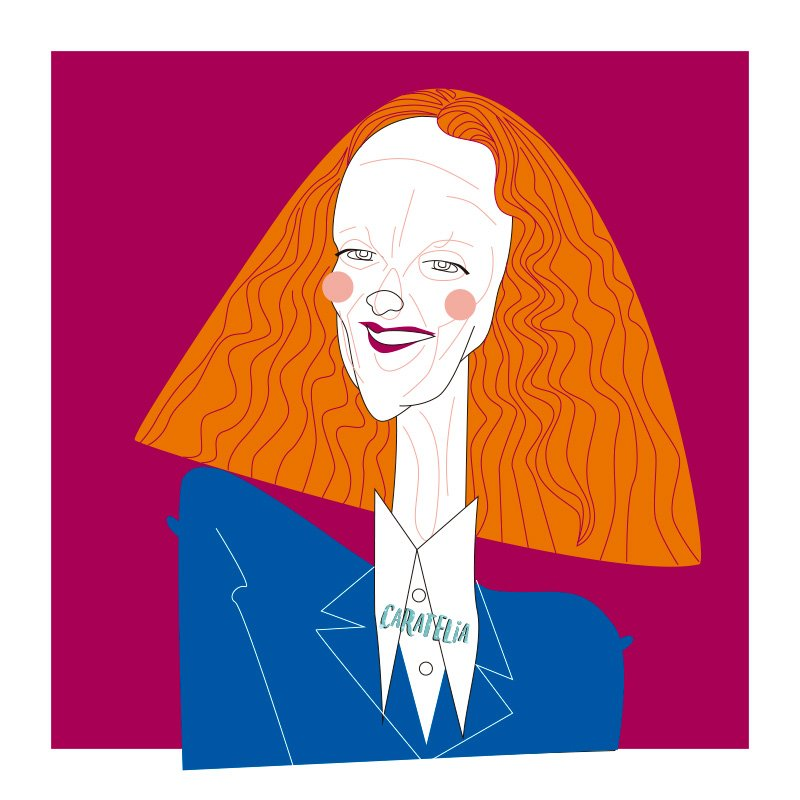 Grace Coddington  #caratelia #illustration #retratos #tucara #portait #regalos #cuadros #barcelona #gracecoddington #usa #vogue #fashion<br>http://pic.twitter.com/sBk7ZZnd1j
