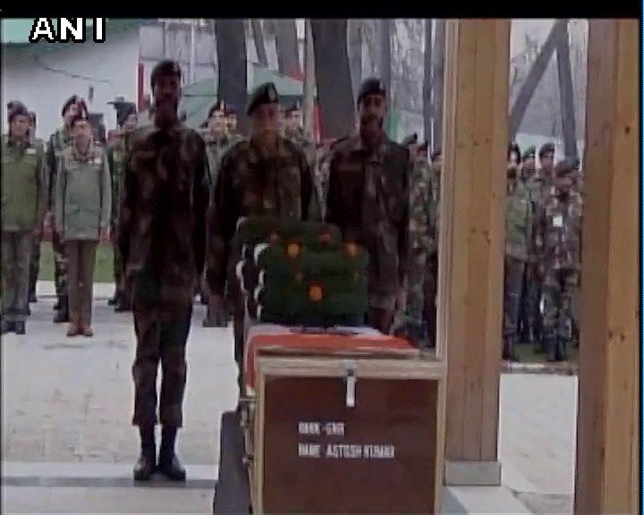 Srinagar (J&K): Wreath laying ceremony of fallen heroes of Hajin & Handwara encounters