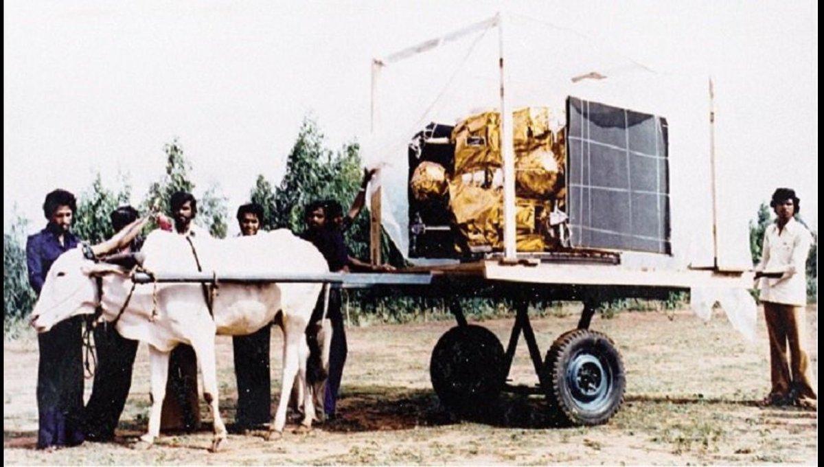 Image result for isro satellite on bullock cart