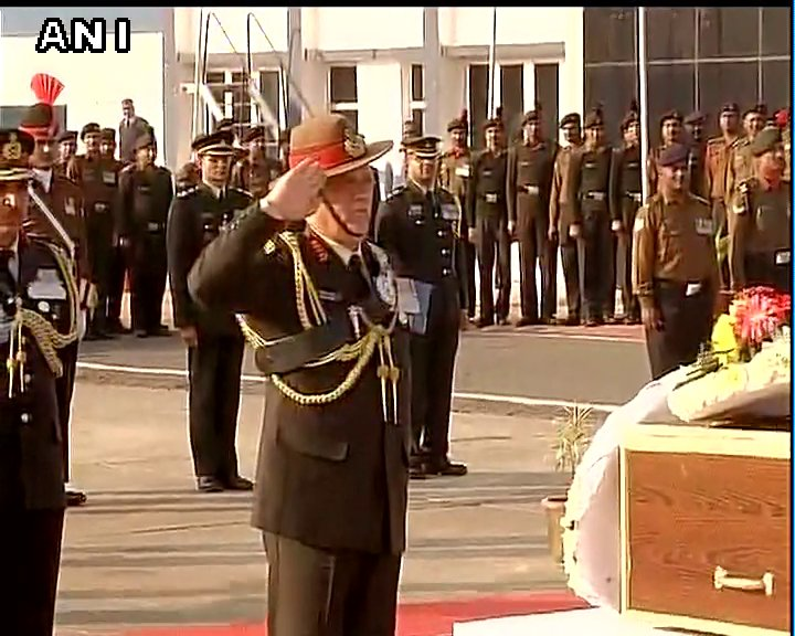 Army Chief General Bipin Rawat pays tribute to security personnel who lost their lives in encounters with fighters in J&K
