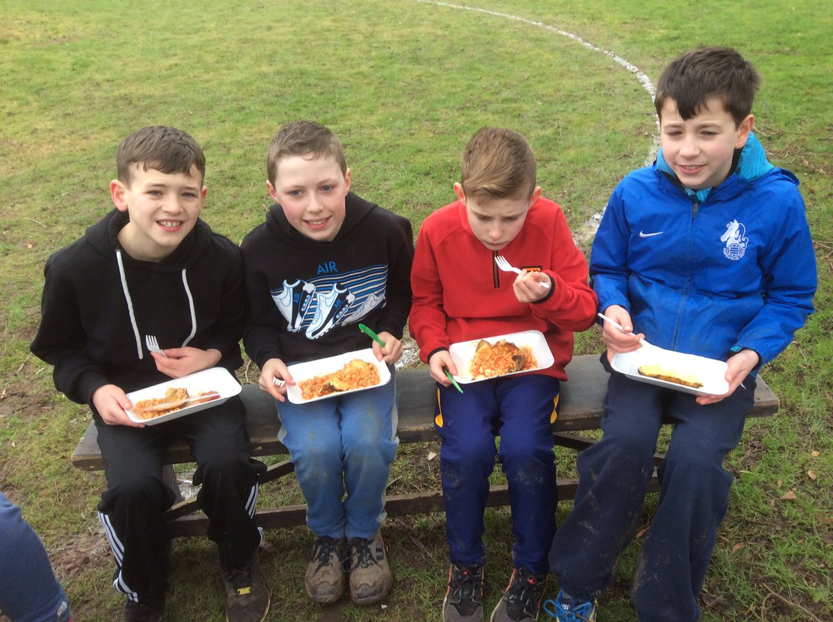 Year 6 enjoying the Valentines lunch they have just cooked. #forestschools @sjohnvianney<br>http://pic.twitter.com/PQ9h2vkYjQ