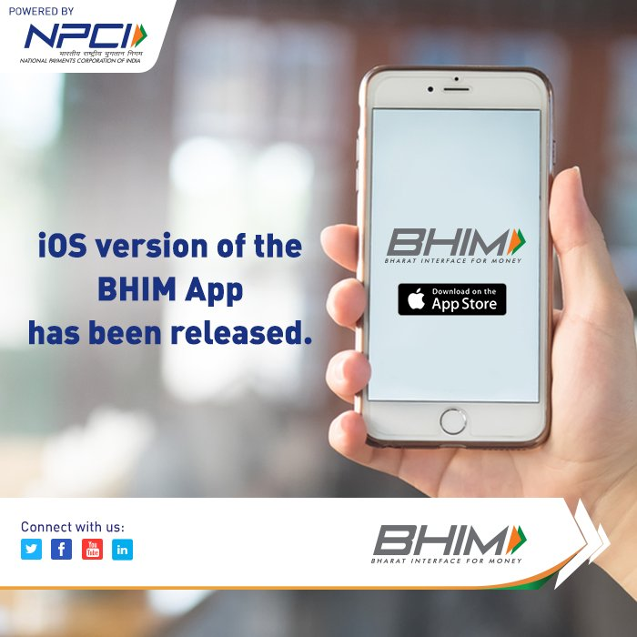 The much awaited iOS version of BHIM App is out. Download #BHIM:  http:// bit.ly/BHIMios  &nbsp;    #appstore #BHIMApp #BHIM #DownloadNow<br>http://pic.twitter.com/7On3kstzb2