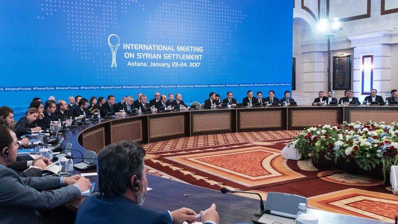 #Syrie un pas vers la paix? 1 semaine avant les pourparlers à #Geneve, 2e session de négociations s&#39;ouvre à #Astana  https:// francais.rt.com/international/ 34020-syrie-deuxieme-session-negociations-astana &nbsp; … <br>http://pic.twitter.com/svLhdIBO4p