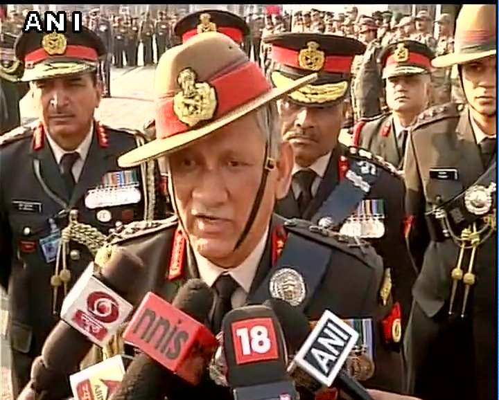 Those who obstruct our ops during encounters  and are not supportive will be treated as overground workers of fighters: Army Chief Bipin Rawat