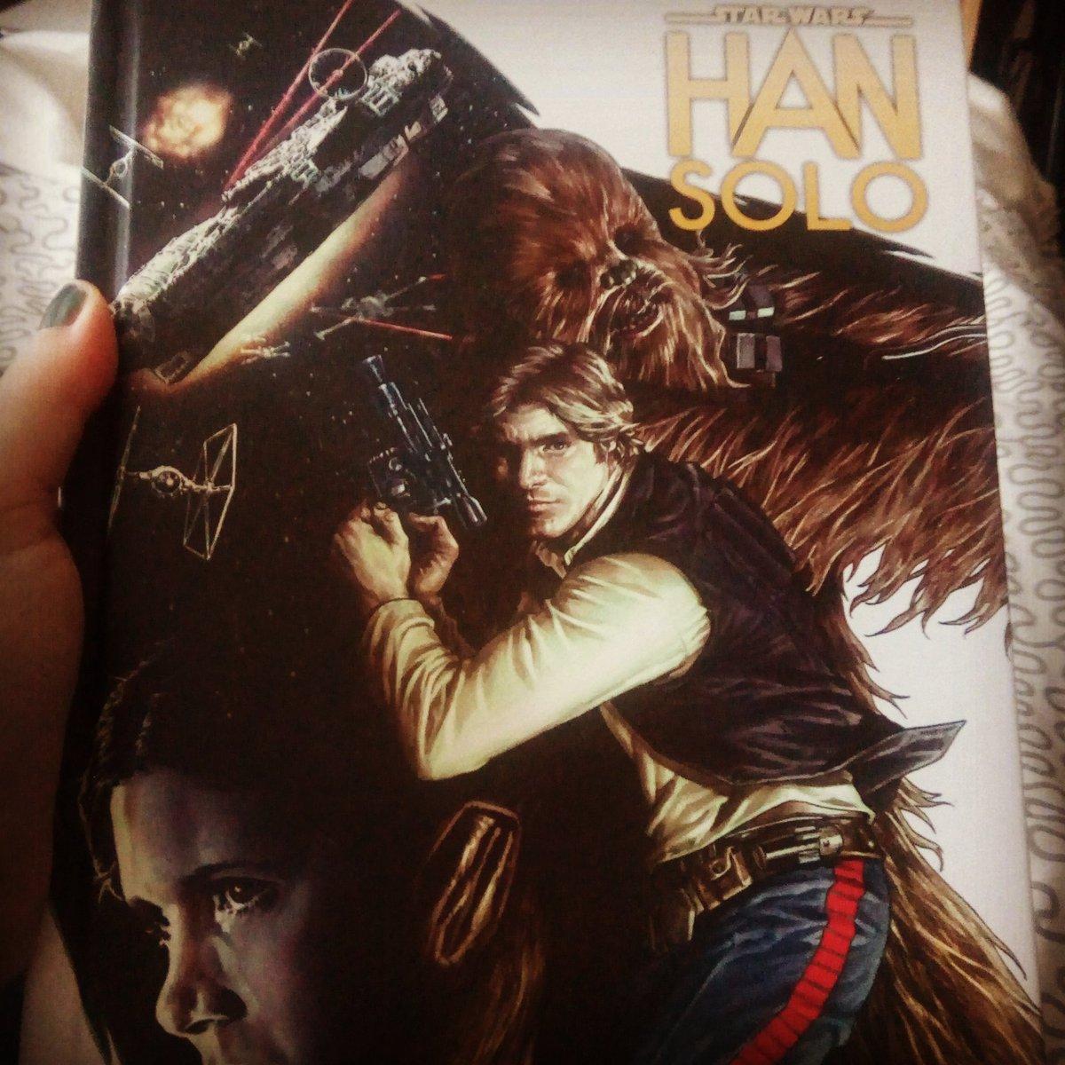 Excellente lecture que ce #hansolo un titre plein d action avec un beau dessin et surtout han solo  <br>http://pic.twitter.com/eMgJtimTLX