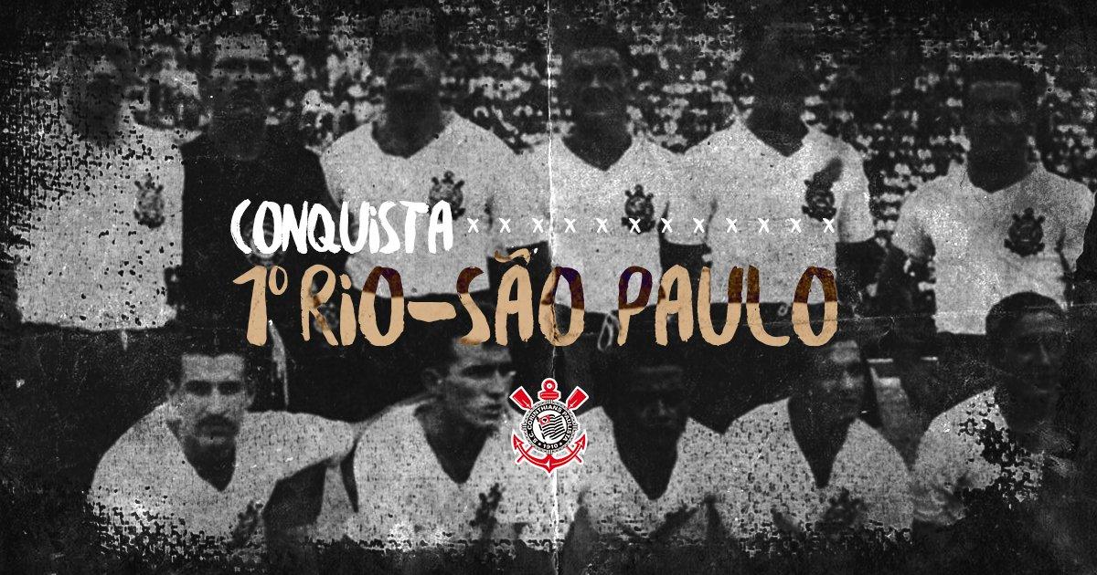 Há 67 anos o #Corinthians conquistava pela primeira vez o torneio Rio-São Paulo! ⚫️⚪️  #TBTimão