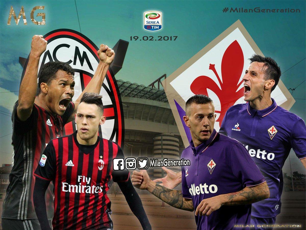 DIRETTA MILAN FIORENTINA Gratis: info Streaming Rojadirecta Oggi 19 febbraio 2017