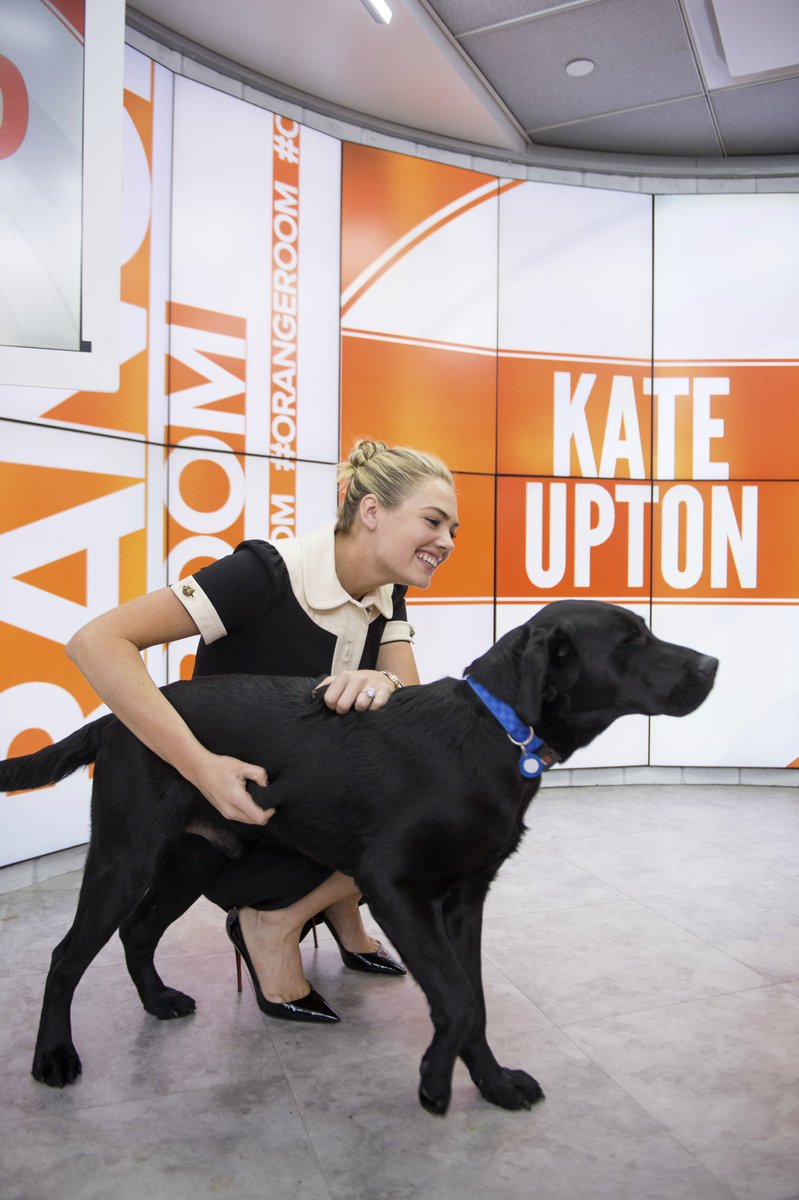 Charlie\'s hanging out with 2017 @SI_Swimsuit cover model @KateUpton this morning!