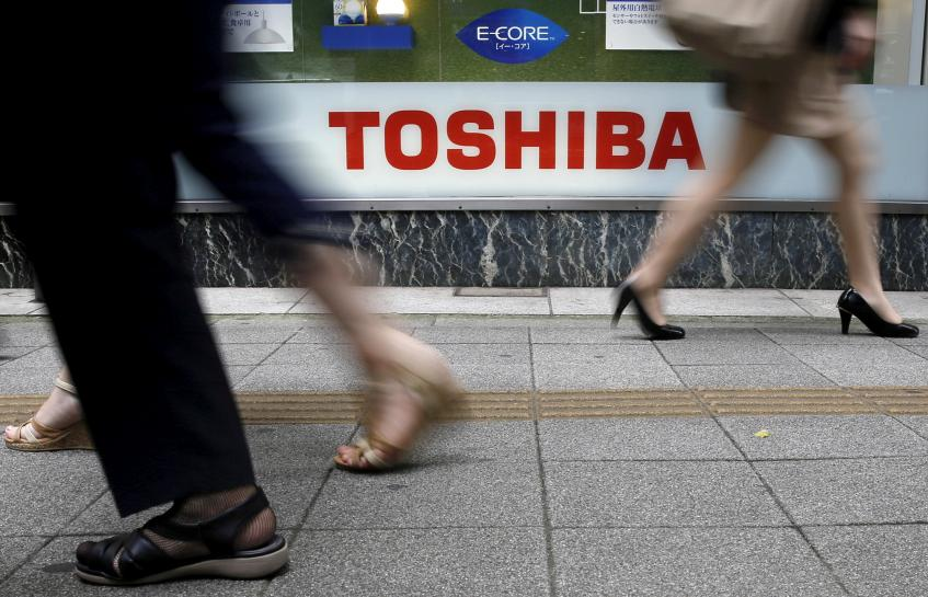 Toshiba shares tumble as bigger stake in chip unit likely up for sale