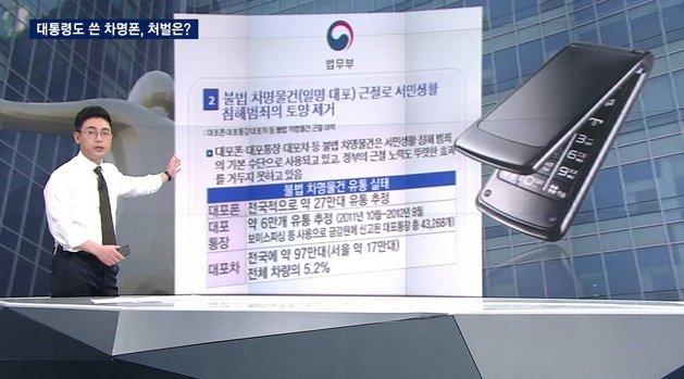 [JTBC 뉴스룸] #팩트체크 대통령도 썼다는 '차명폰' 불법인가?…결론은 '제공자와 이용자 모두 법적 책임에서 자유로울 수는...