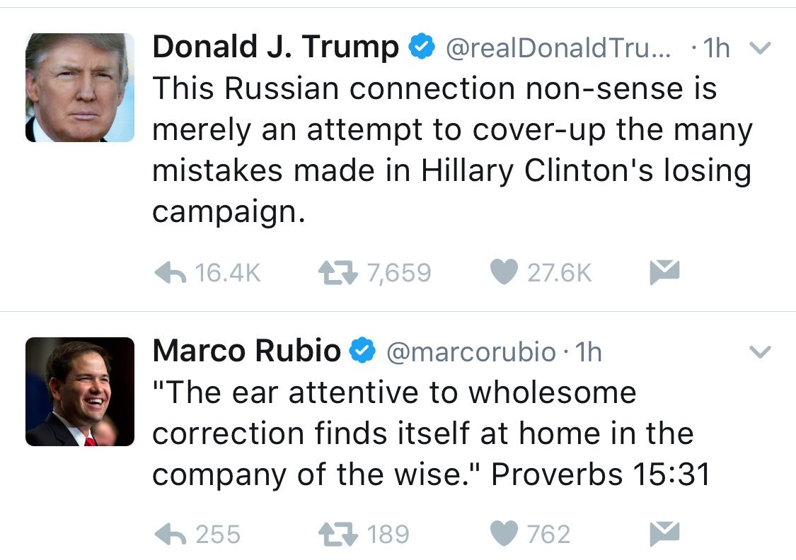 NO MISTAKING MARCO  One is president and likes Putin. One isn&#39;t president and likes Proverbs. #rubio #2020 <br>http://pic.twitter.com/WCJhqRlbAr