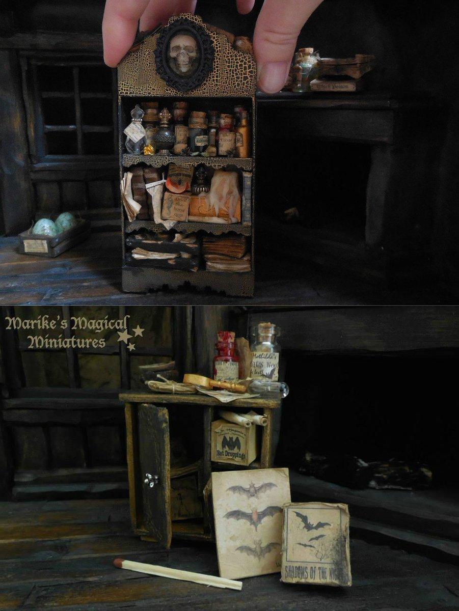 魔術師や魔女のための必需品を取り揃えたハンドメイドのミニチュアショップ etsy.com/uk/sh…