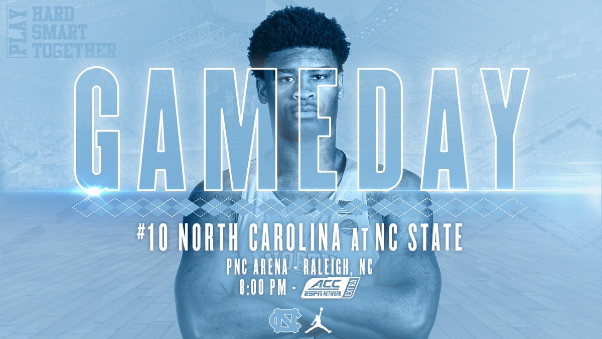 It&#39;s GAMEDAY vs NC State!  : Raleigh, NC : 8:00 PM ET : ACC Network/WatchESPN  #GoHeels #GetIntoIt #UNCBBall <br>http://pic.twitter.com/48VGqjO9sR