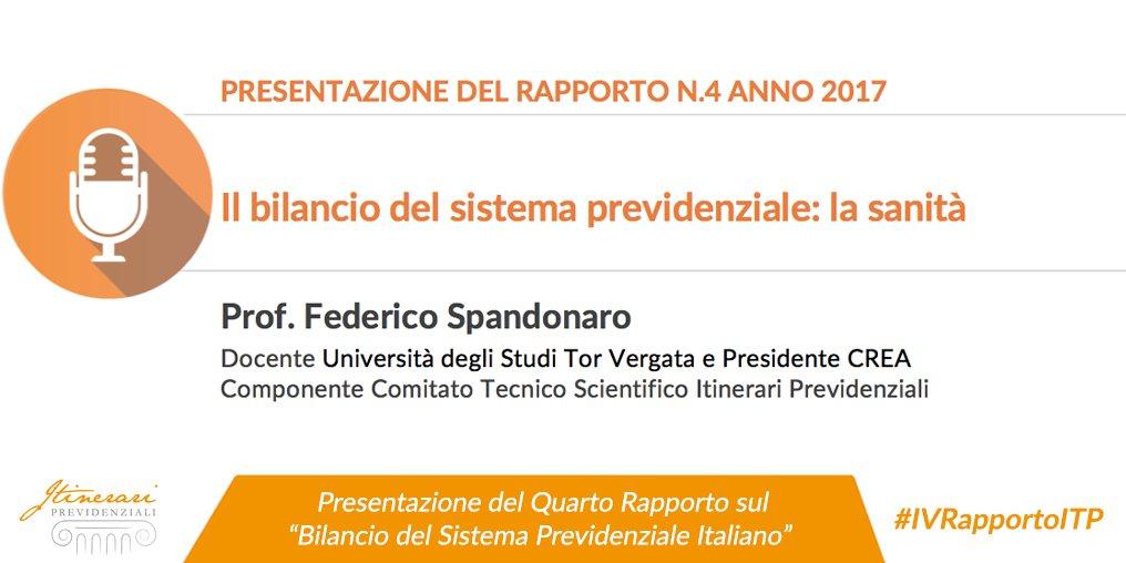 Spesa sanitaria e per #LTC pubblica e privata: alla presentazione del #IVRapportoITP  il Prof. #FedericoSpandonaro