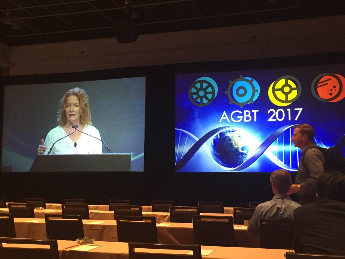 Elaine Madrid greeting everyone this AM at #AGBT17 https://t.co/BgWs8JpZtN