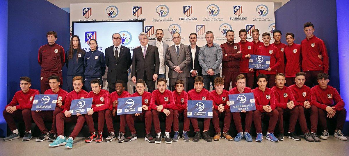 Atlético Madrid lanza un plan para luchar contra el acoso escolar