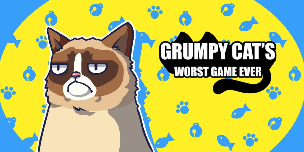 .@RealGrumpyCat\'s official mobile game is here! Will it be the worst game you ever play?  .