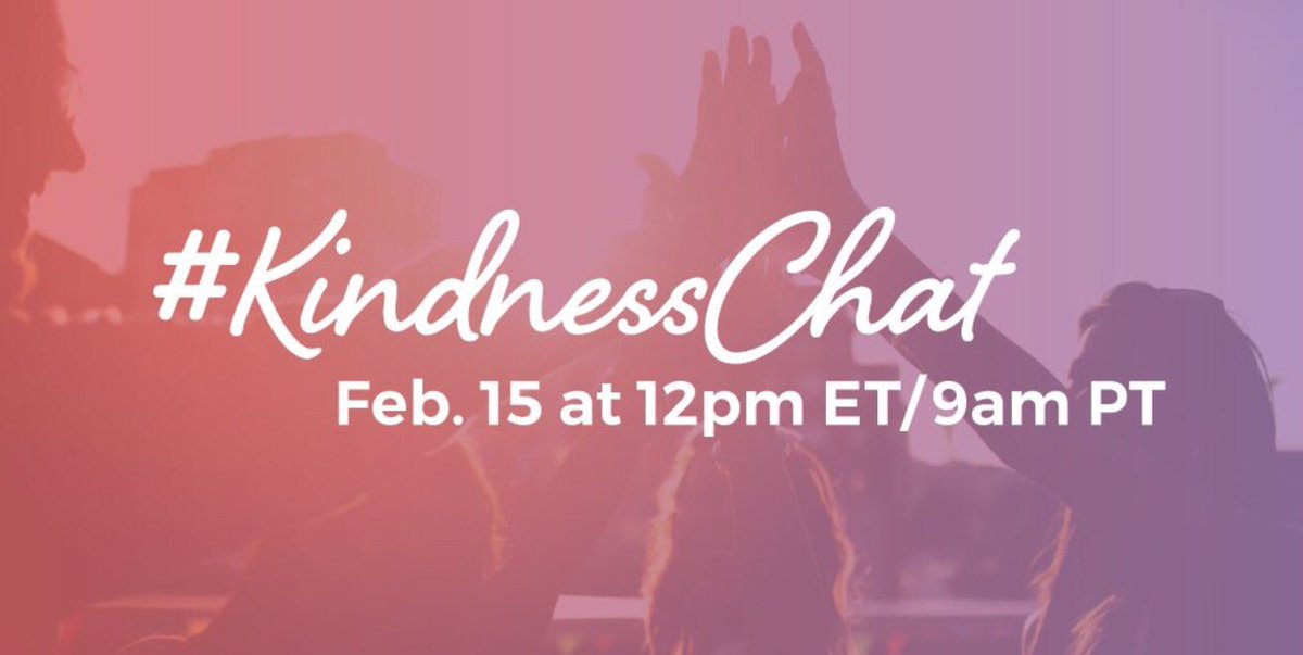 Join me and @momgerm for a #KindnessChat at 5pm GMT / 9am PT / 12pm ET, hosted by @BTWFoundation https://t.co/lfwlM59Urp