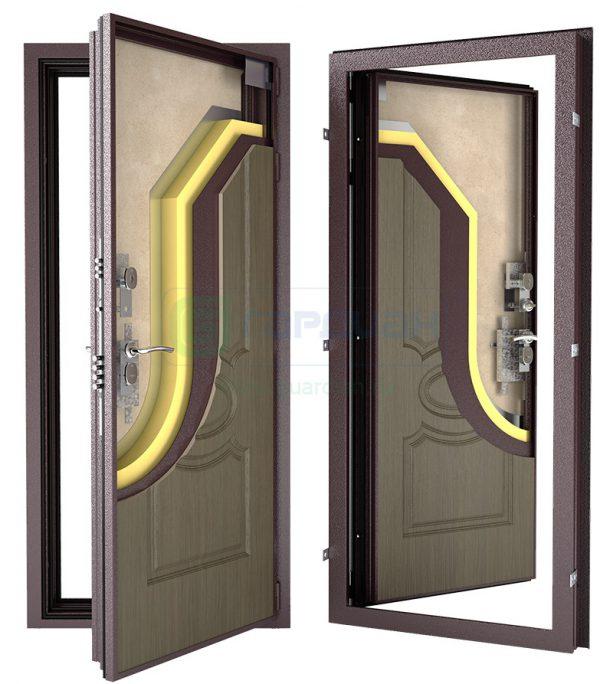 входная дверь в квартиру с зеркалом внутри квартиры купить
