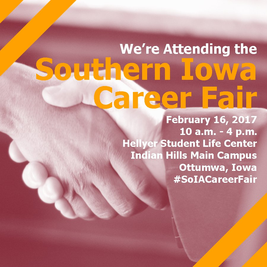 Check us out as an employer at the Southern Iowa Career Fair on Thursday in Ottumwa, IA! #SoIACareerFair <br>http://pic.twitter.com/uJjdiNAdjX