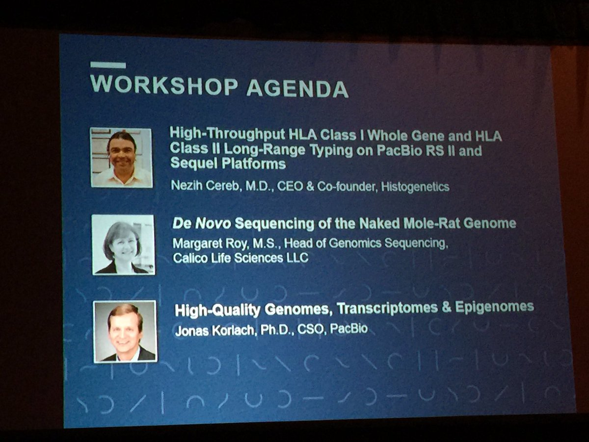 Great lineup of speakers at the @PacBio workshop at #agbt17. Starting now. https://t.co/970UCSImnD