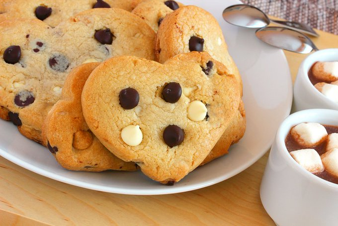 Air Fryer Shortbread Heart Cookies