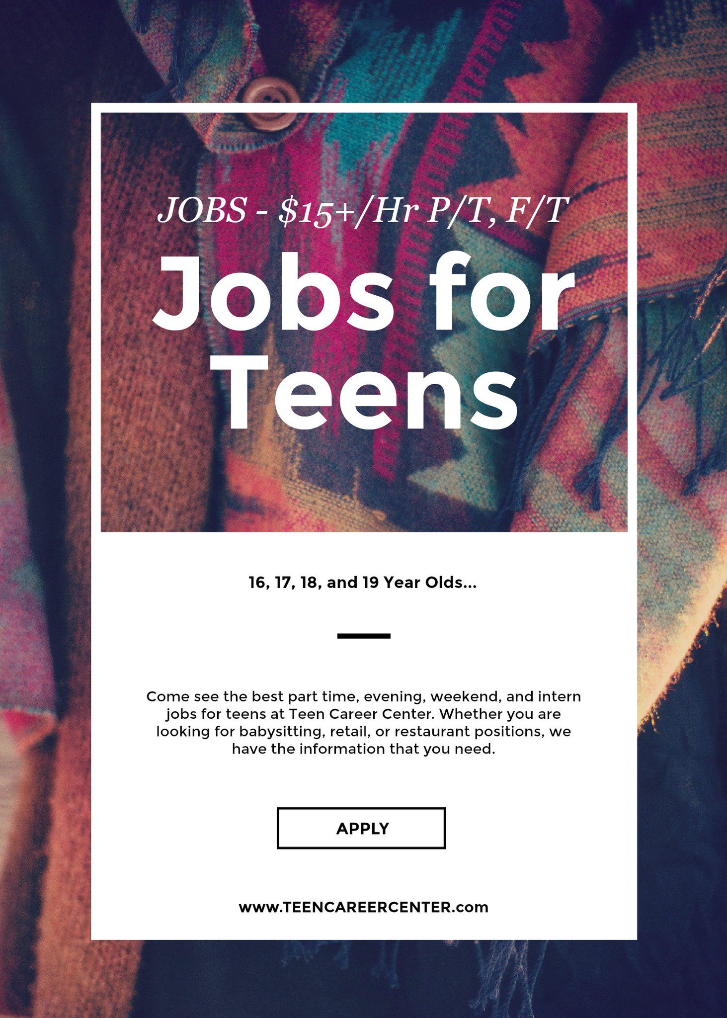 Jobs For 16 Year Old On Twitter Hey Come And Check Out New Jobs Posted Today For Ages 16 Parttime Job Money Work Teenager