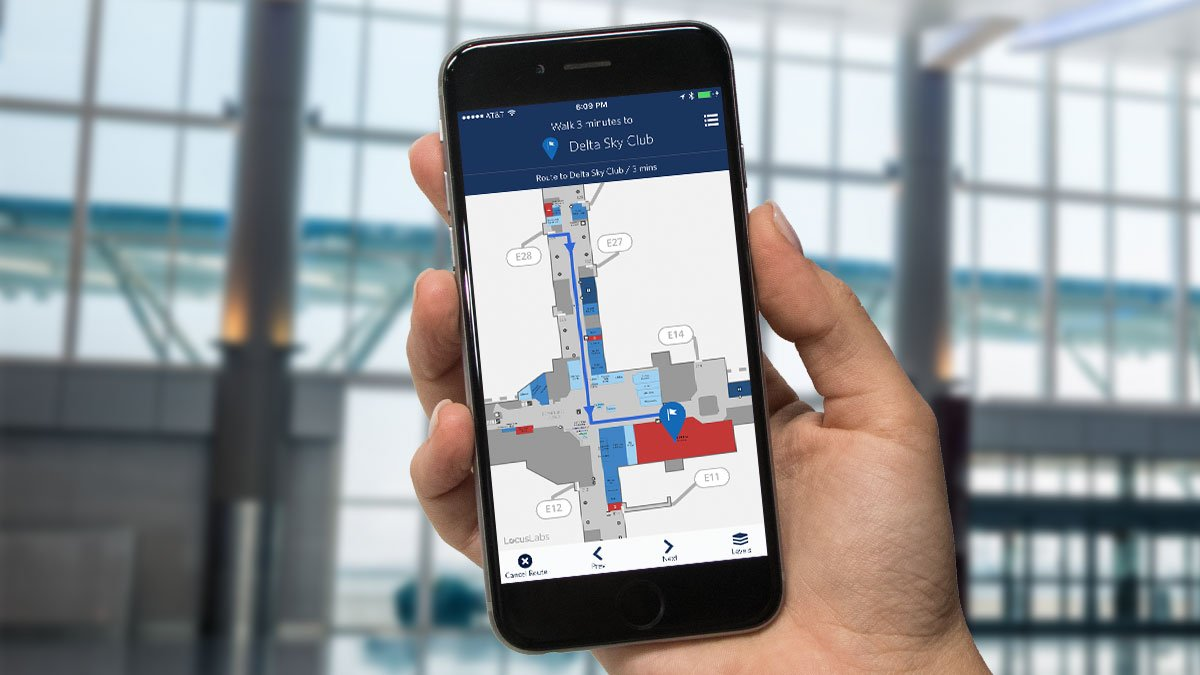 Delta Interactive Route Map on
