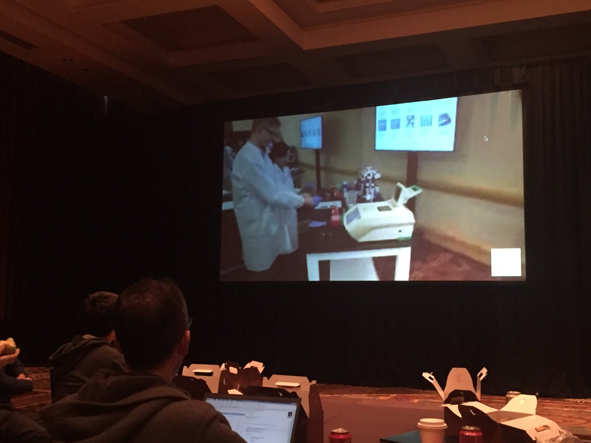 @coregenomics and Michael Rhodes of @nanostringtech showing live video starting an FFPE prep at #agbt17 https://t.co/C7B4BbEpXj