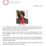 Immigrant Women Services Ottawa (IWSO) is mourning the loss of Ms. Lucya Spencer.