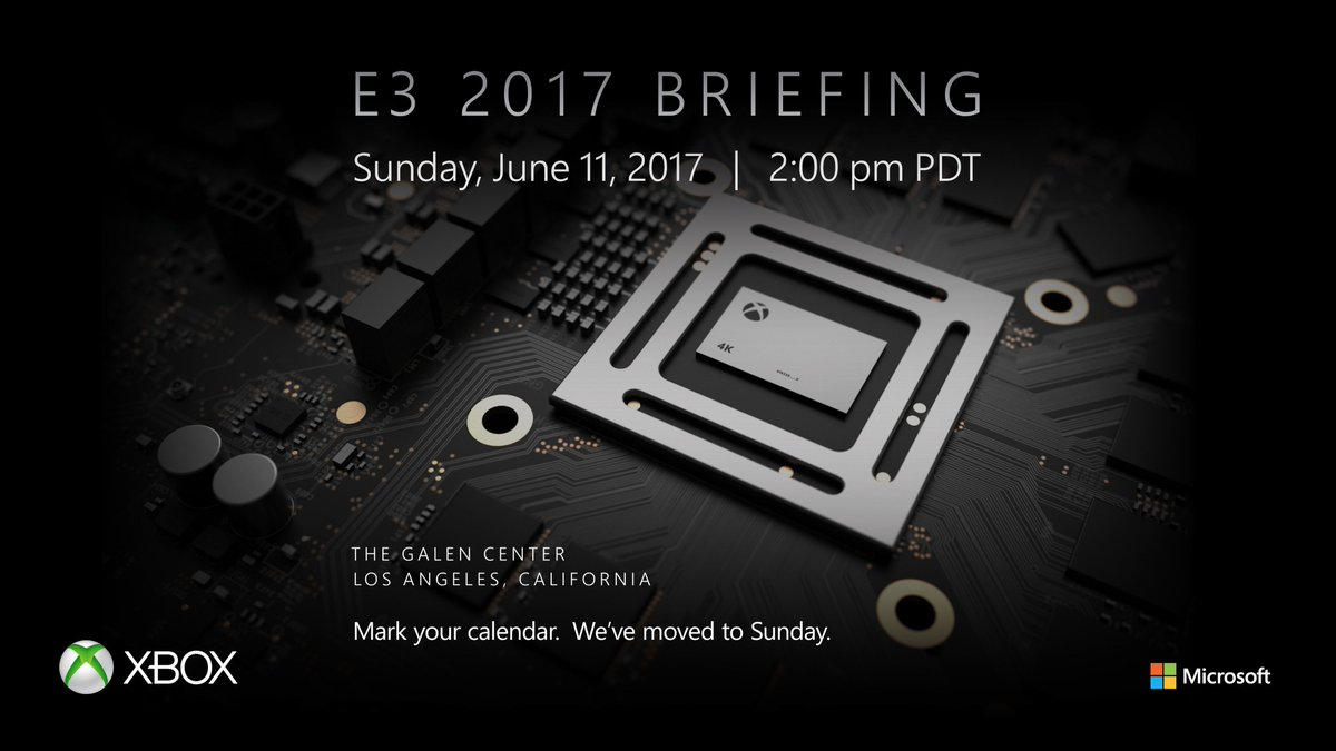 E3 2017: Microsoft Conference Date and Time Announced