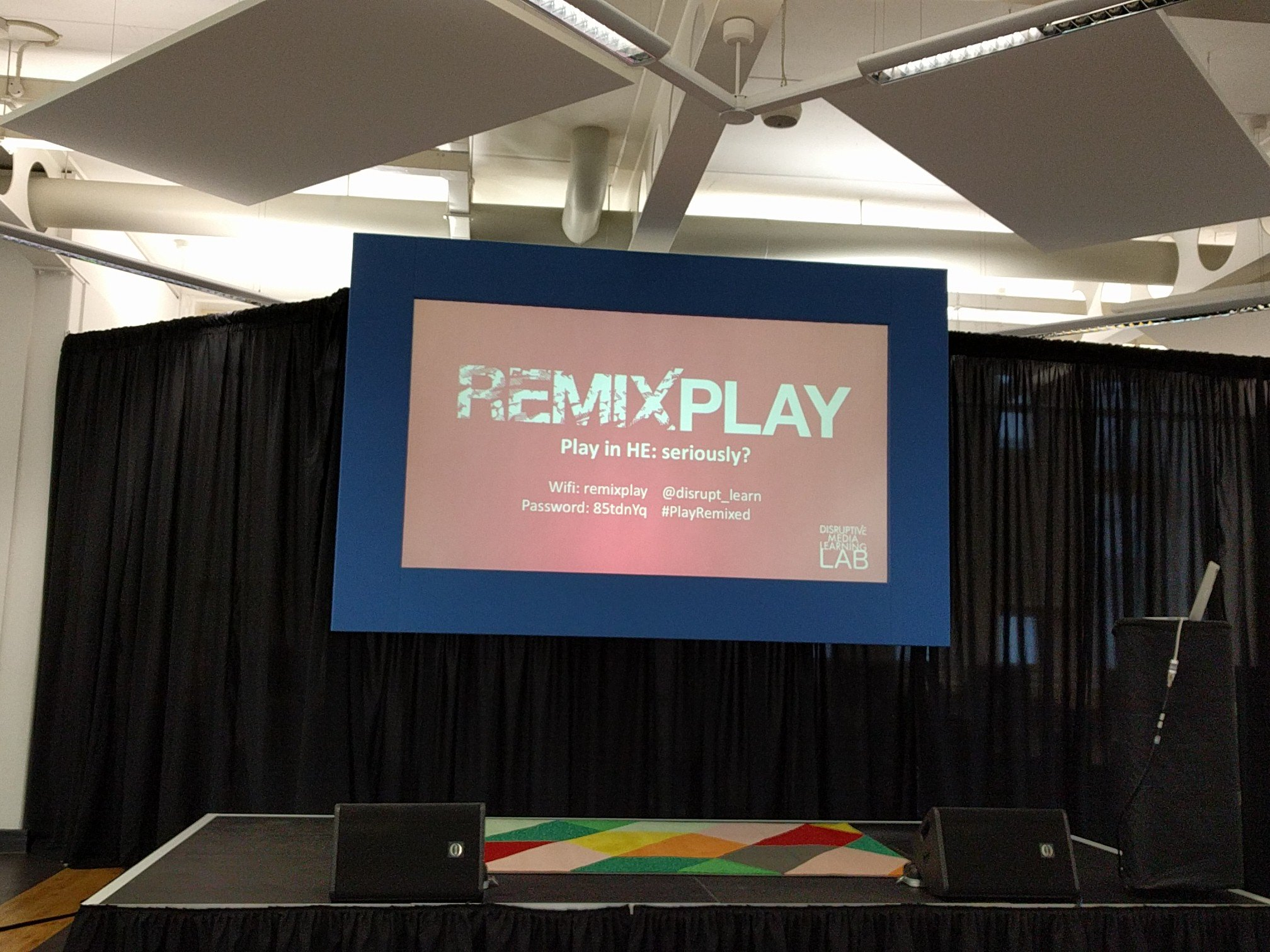 Such a great day today of fascinating learning, play and wonderful people. Thanks to everyone involved in making #PlayRemixed so great! https://t.co/Th72LZ3yKH