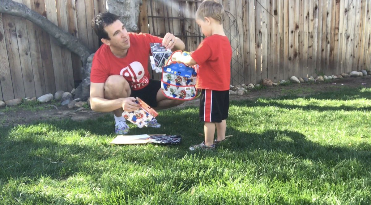 Bryson Paul Gale and Paul Gale Network wearing Nintendo Switch t-shirts while opening up Baby gifts sent by the Nintendo Social Media Team, for Brooke Zelda Gale!