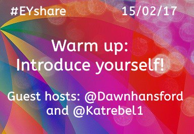 Good evening all! Welcome to tonight's #EYshare with the very lovely @Dawnhansford and @Katrebel1 https://t.co/pv7ZOBSGho