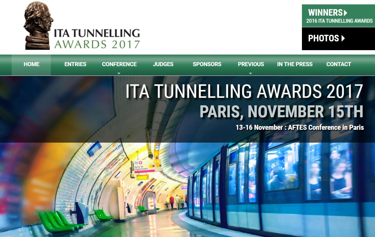 Nominations being accepted for 3rd annual #ITA Awards  https:// awards.ita-aites.org / &nbsp;   #Tunnels #Tunneling @ItaAward #itatunnellingawards<br>http://pic.twitter.com/uf23y7Afez