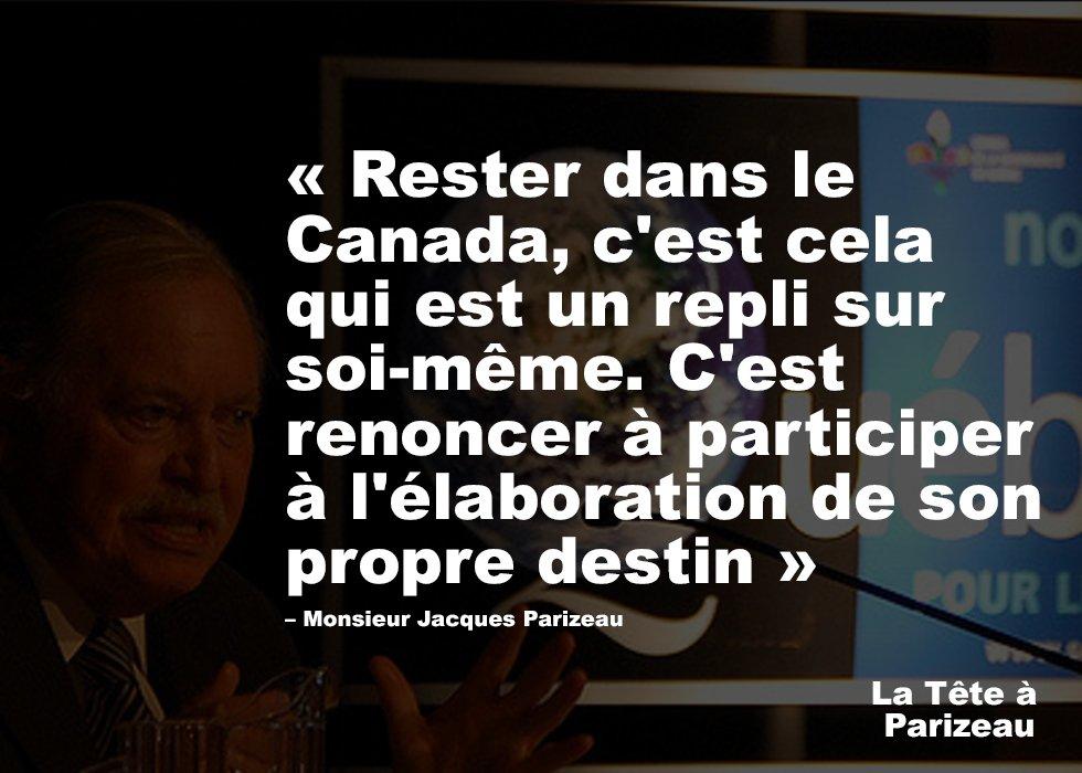 Rester dans le Canada, c&#39;est cela qui est un repli sur soi-même #Parizeau #paysqc #polqc #assnat #canada150  <br>http://pic.twitter.com/Usq9ZC1NK1