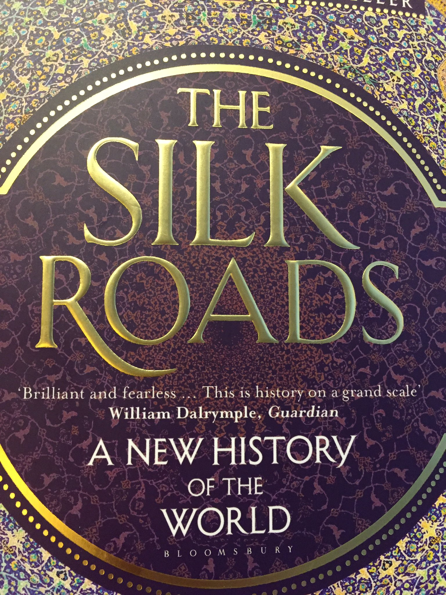 So glad I saved @peterfrankopan's The Silk Roads for this trip. Wonderful to be reading about Persia while flying over it https://t.co/3SSNuXZspG