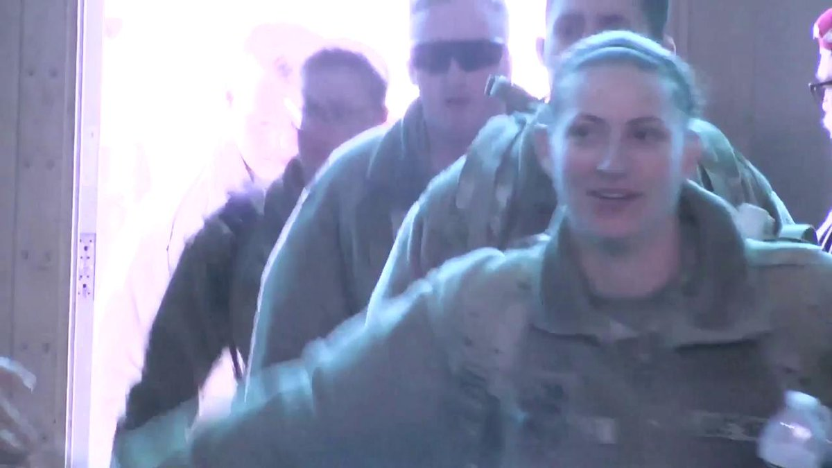 #Soldiers from the 863rd #Engineer Battalion return home to cheers and lots of love. #WelcomeHomeWednesday