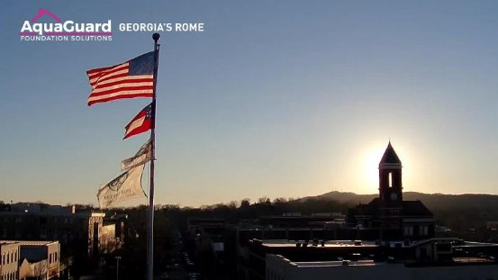 Beautiful sunset from our tower cam in Rome. #11Alive
