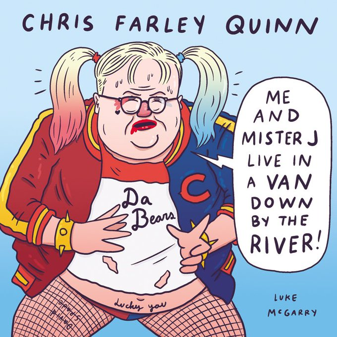 Happy birthday Chris Farley who would\ve been 53 today.
