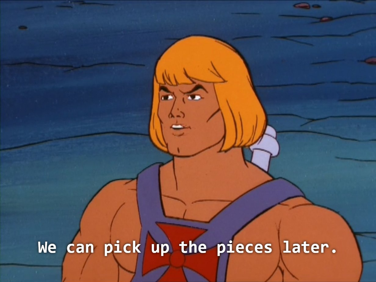 No. You and I are OVER, He-Man! *tears up* OVER! *runs off, sobbing* https://t.co/ocLUwiMTb2
