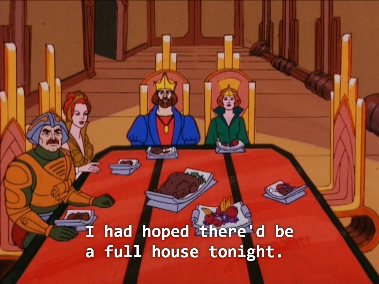 Well, none of the servants are allowed in the Dining Room, and Prince Adam is out at the Power Exchange right now, so... https://t.co/tXb1HvLWCE