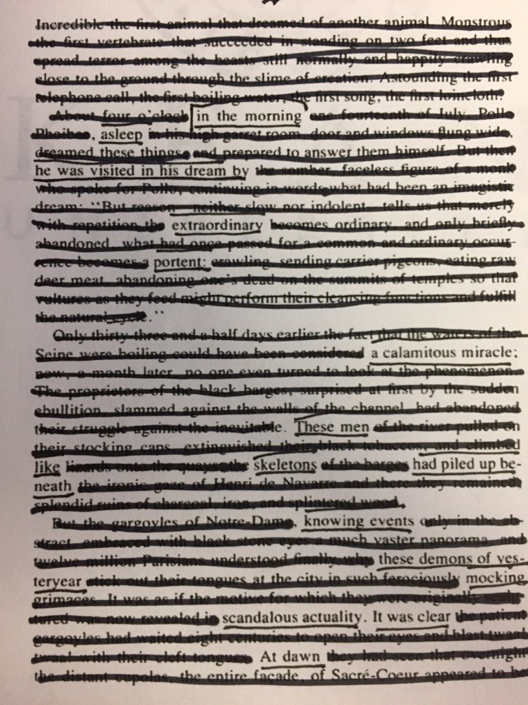 In the morning asleep he was visited in his dream by extraordinary portent. (1 of 2) #netnarr #blackoutpoetry https://t.co/D408psGYIG