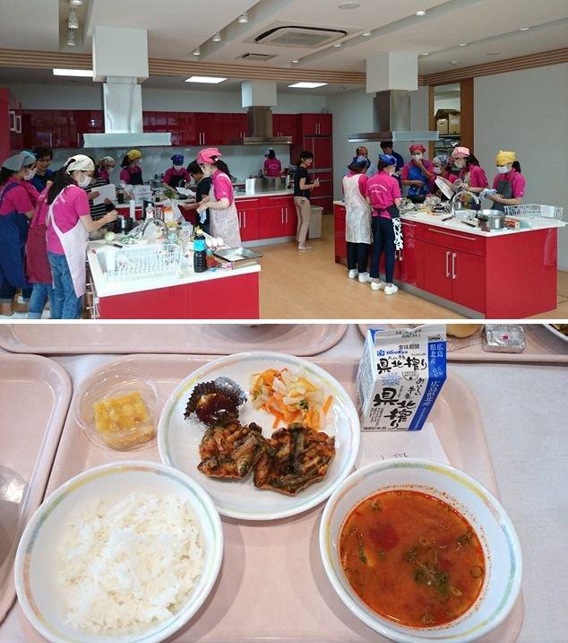広島女学院大学&㈱カゴメ&安芸太田町がコラボした学校給食の取り組みを行っています! 昨年6月から開発…