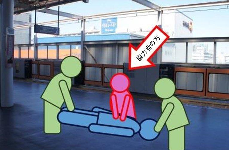 大井消防署では、平成29年2月9日(木)午後6時頃、東急大井町駅ホーム上で心肺停止となった男性の救命…