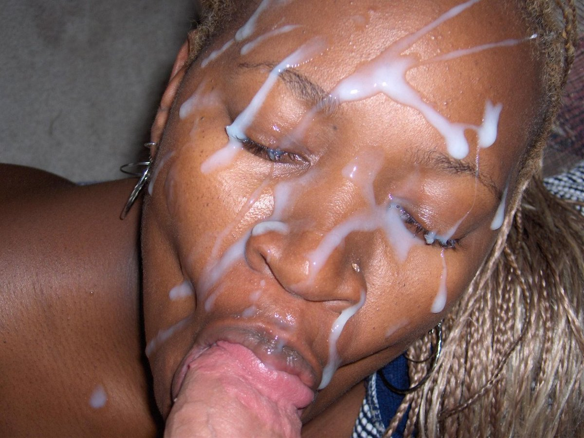 Ebony cumshots facials