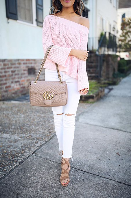 Pink Sweater in Charleston