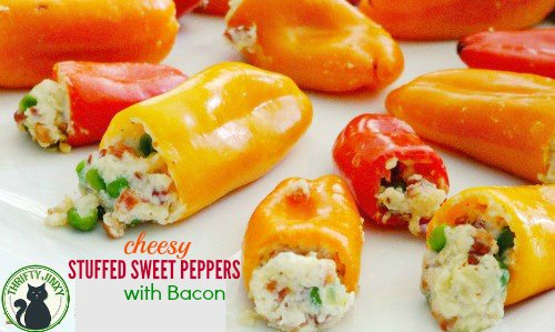 Cheesy Stuffed Sweet Peppers with Bacon Recipe