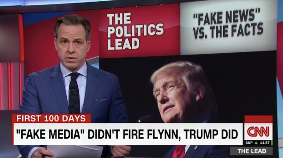 Jake Tapper fires back at Trump: Media didn't fire Flynn, you did https://t.co/WZ6N1SBtCV https://t.co/xZROElHVRu
