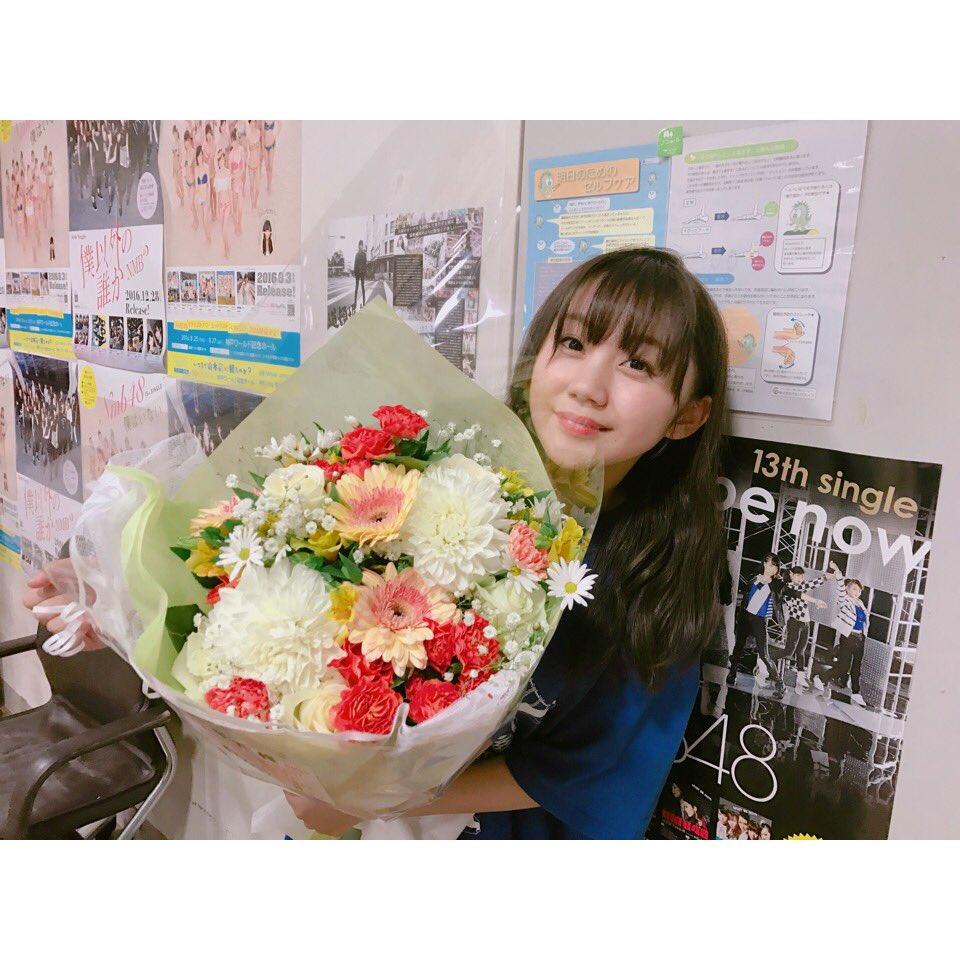 私宛に 私のファンの皆様から綺麗な花束が届いてました💐💓  ありがとうございます😭✨